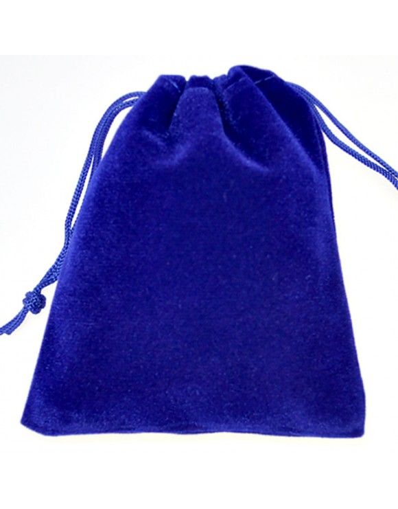 Blue Pouch with Gusset