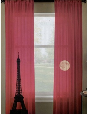 Unlined Woven Curtain Set
