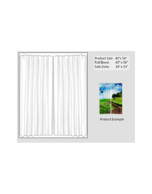 Lined Woven Curtain Set