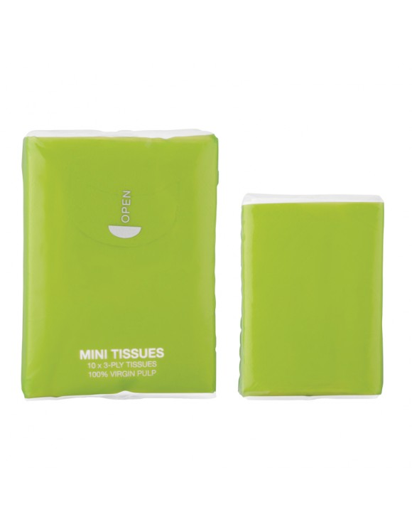 Lime Green Mini Tissue Packs