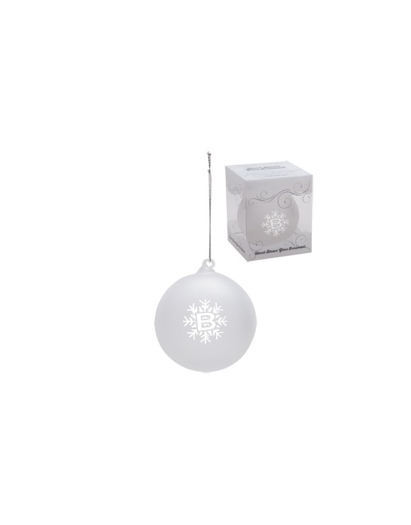 Frosted Hand Blown Glass Ornament