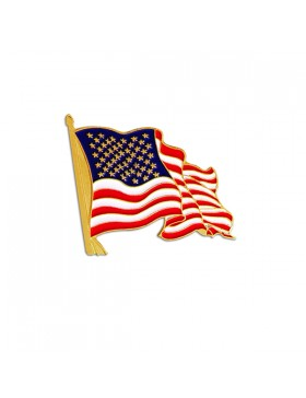 American Flag Patriotic Lapel Pin