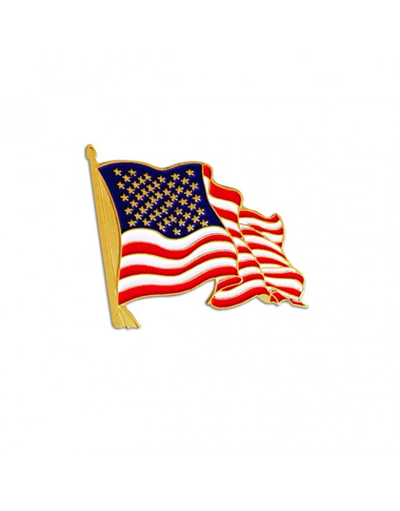 American Flag Ribbon - Patriotic Lapel Pin