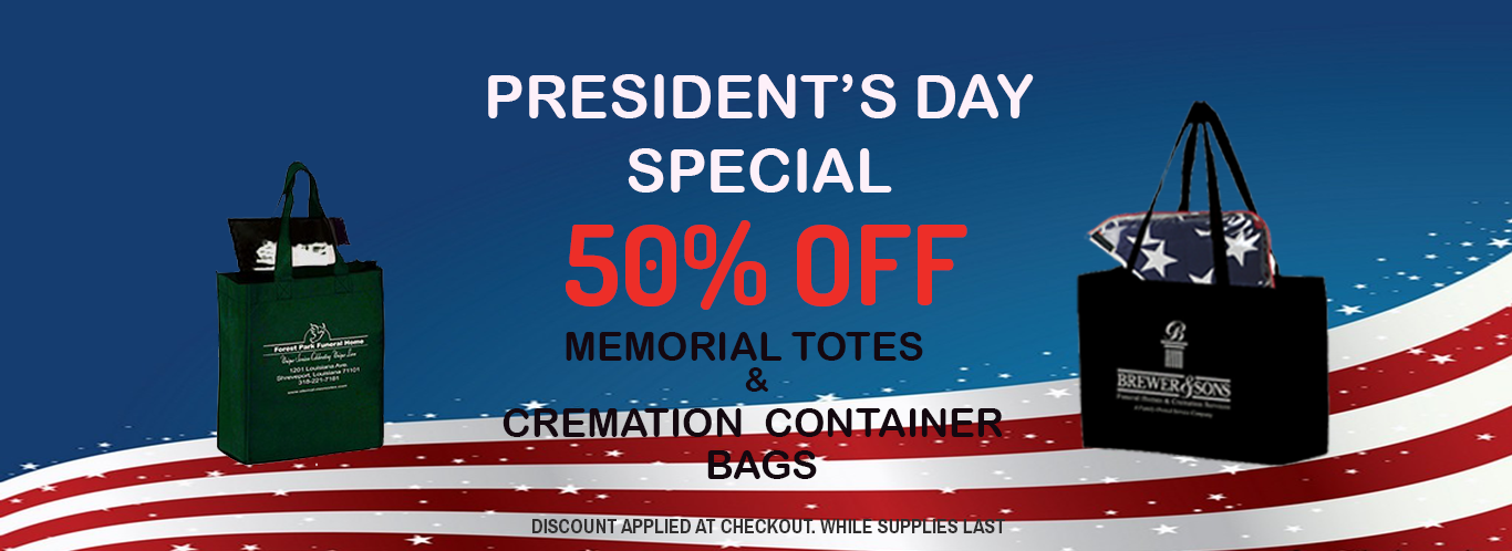 50% OFF Memorial Totes & Cremation Container Bags